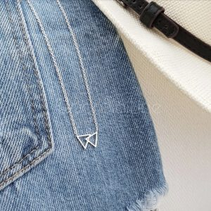 Fixed triangles silver plated necklace
